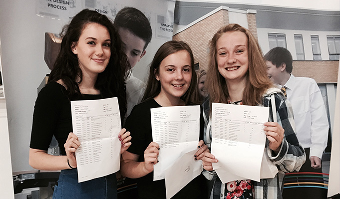 Lots of smiling faces on GCSE results day